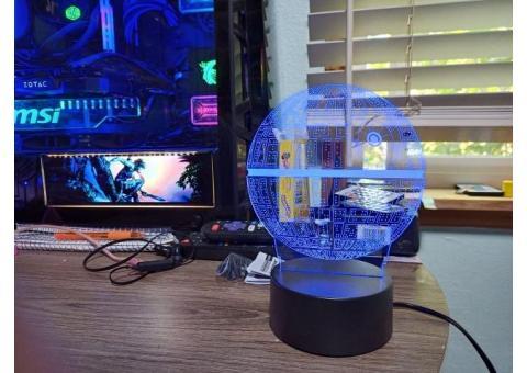 new star wars 3 color led death star nightlight